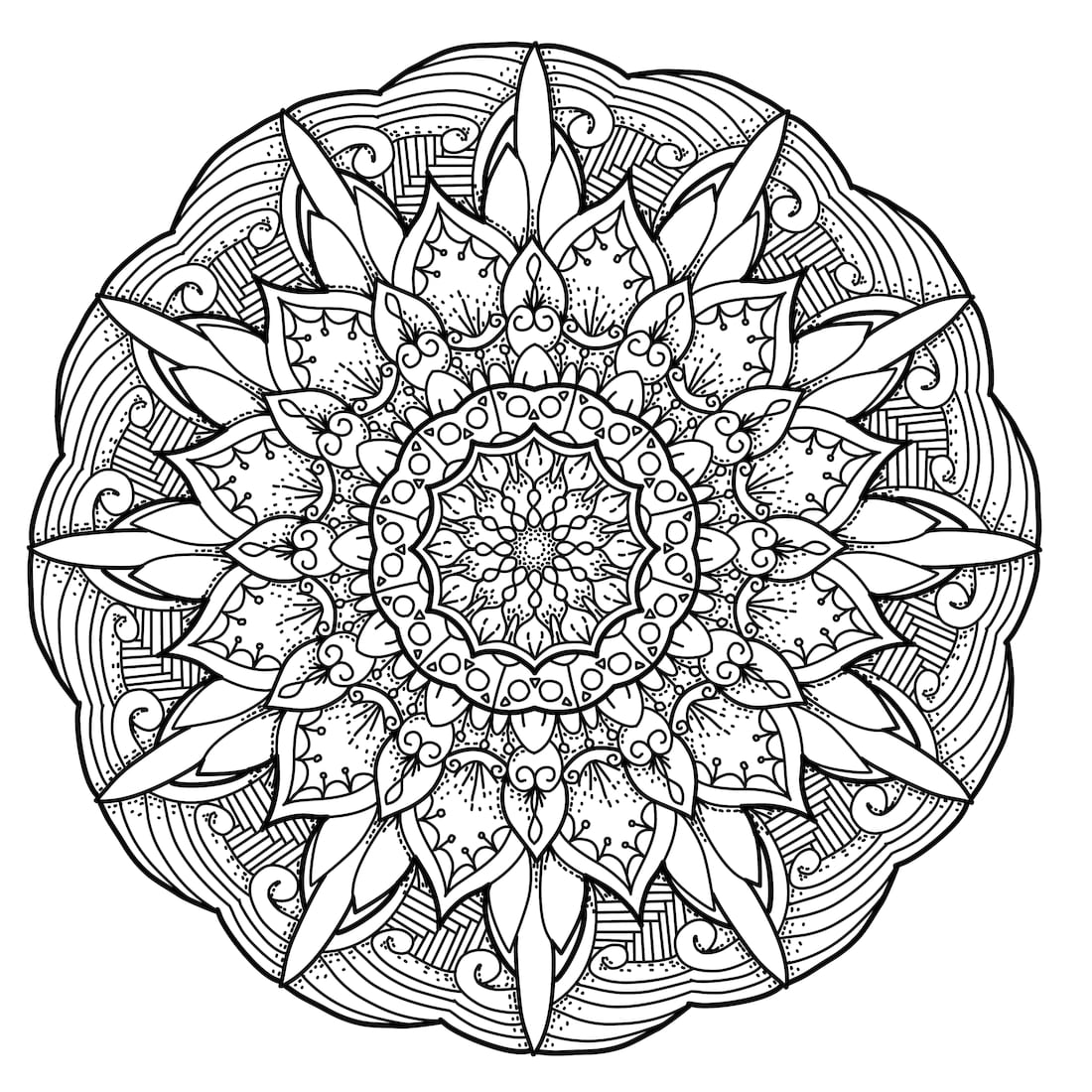 Picture of Ancient Blossom coloring page