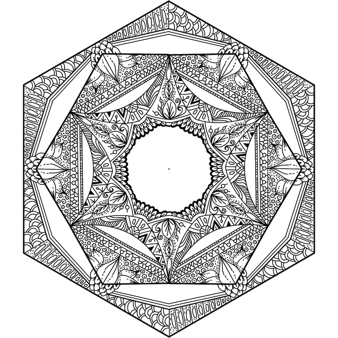 Picture of Ancient Patterns coloring page