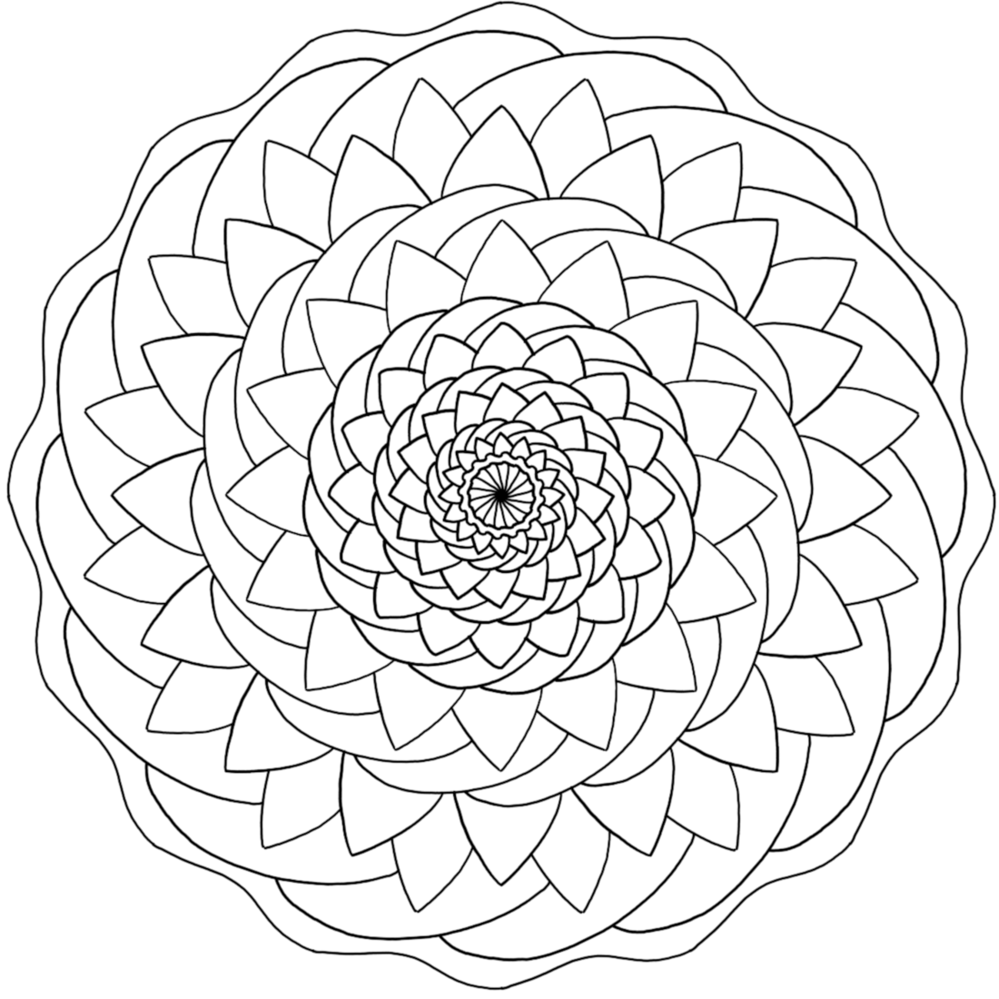 Picture of Breathe Calmly coloring page
