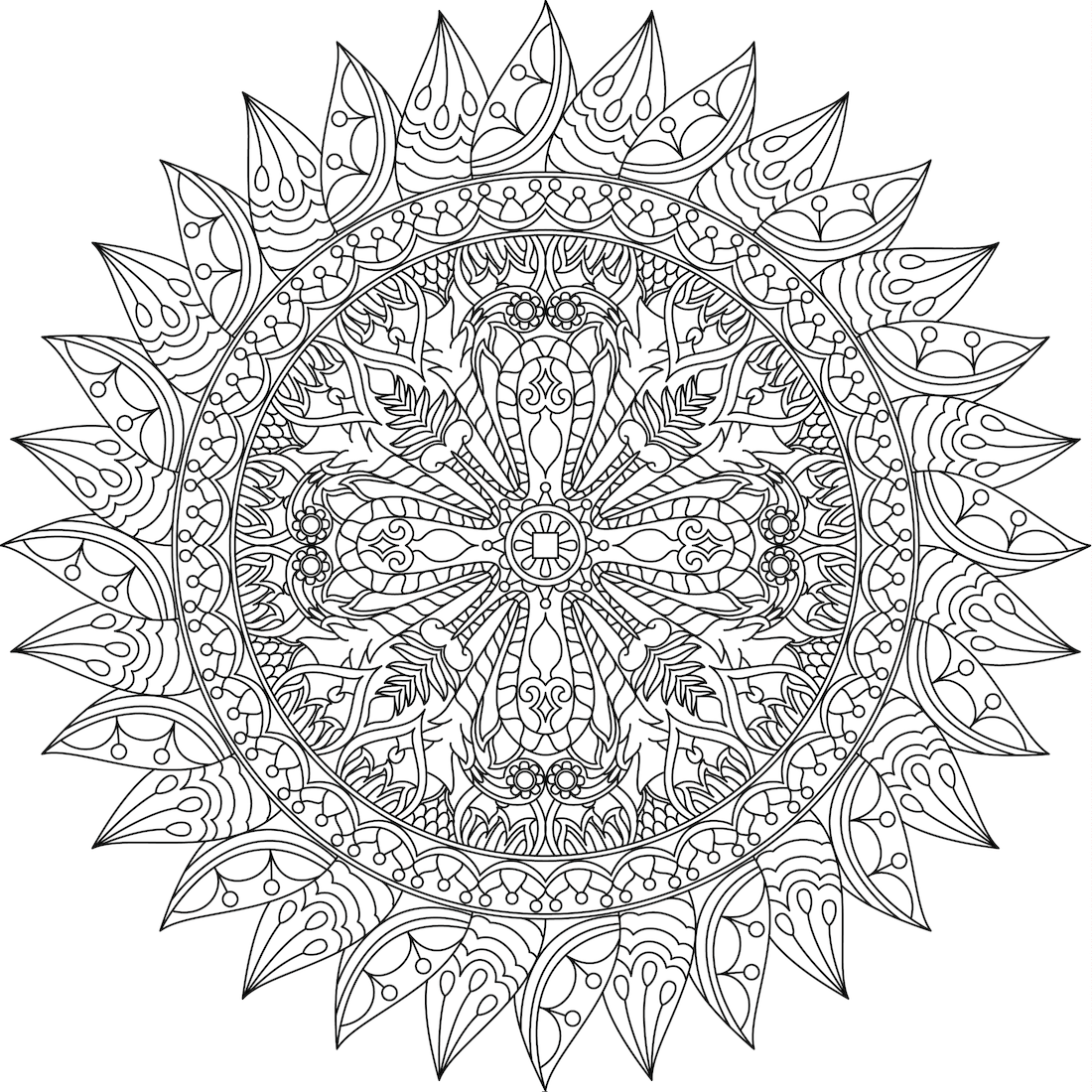 Picture of Center of Ganden coloring page