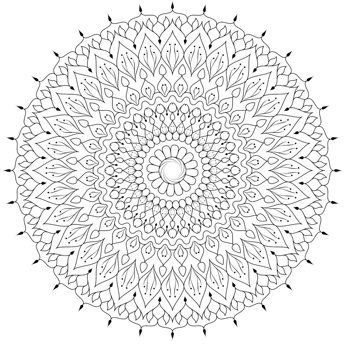 Picture of Dream Catcher coloring page