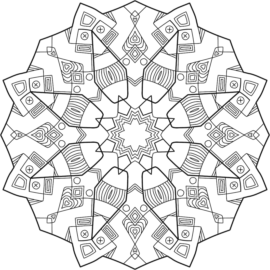Picture of Dwemer Cog coloring page