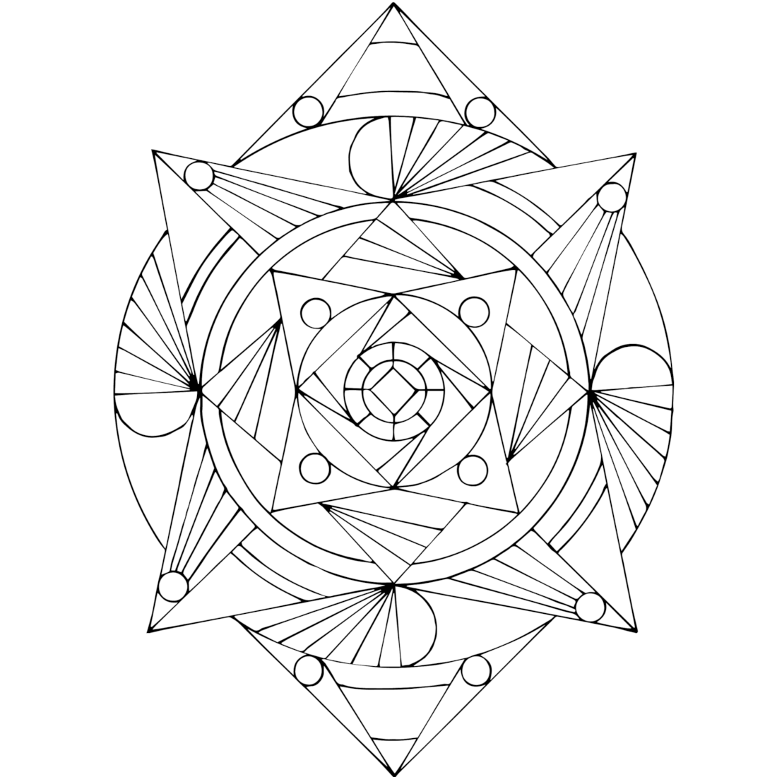 Picture of Fan-dango coloring page
