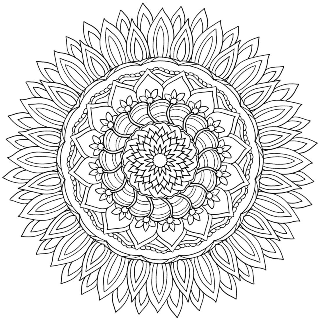 Picture of Fire Petals coloring page