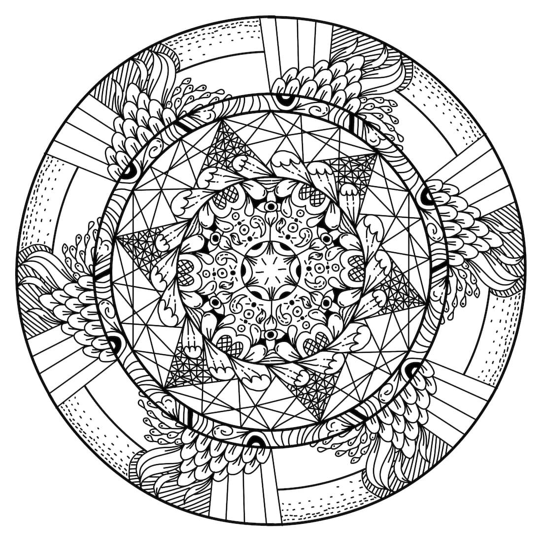 Picture of Frame of Mind coloring page