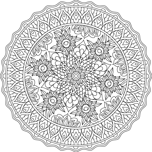 Picture of Giving Heart coloring page