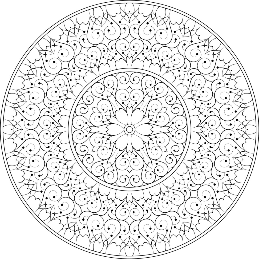 Picture of Happy Life coloring page