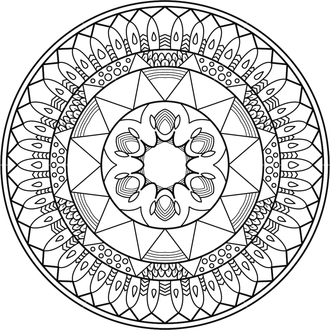 Into the Sun Coloring Page