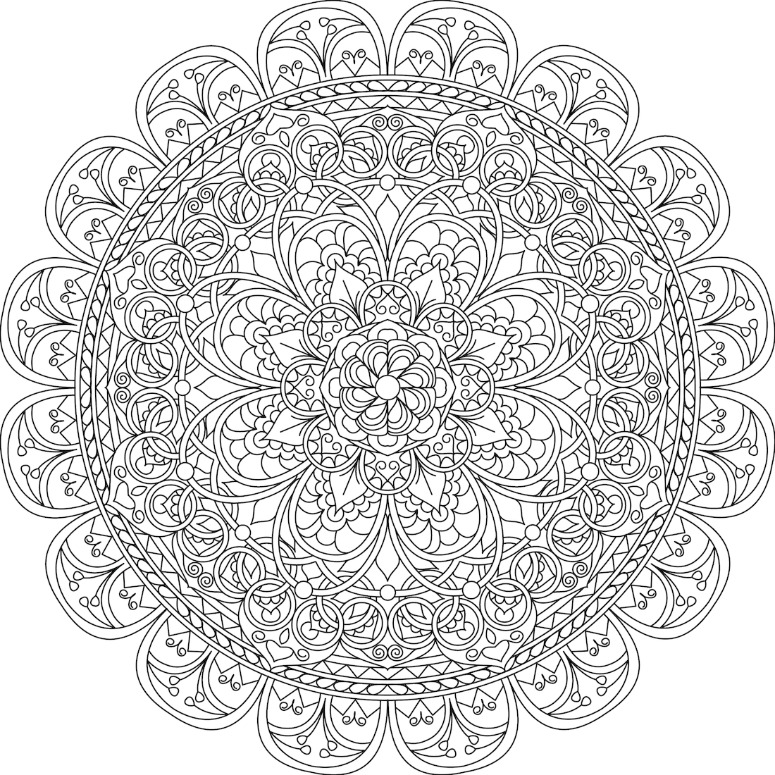 Mindful Compassion Coloring Page