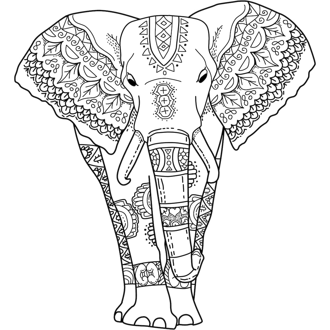 halloween elephant coloring pages - photo#47