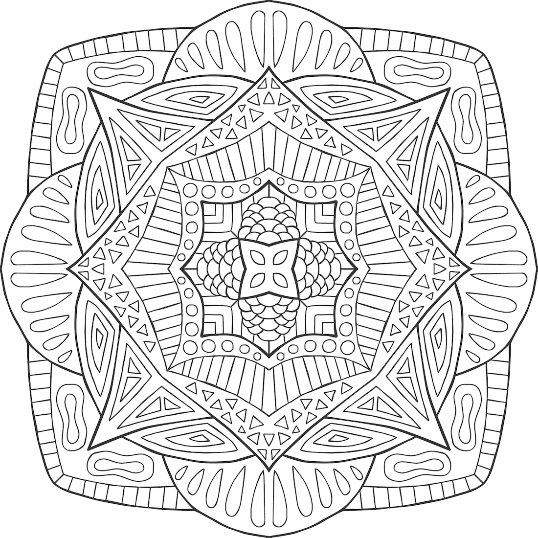 Picture of Rupa in Balance coloring page