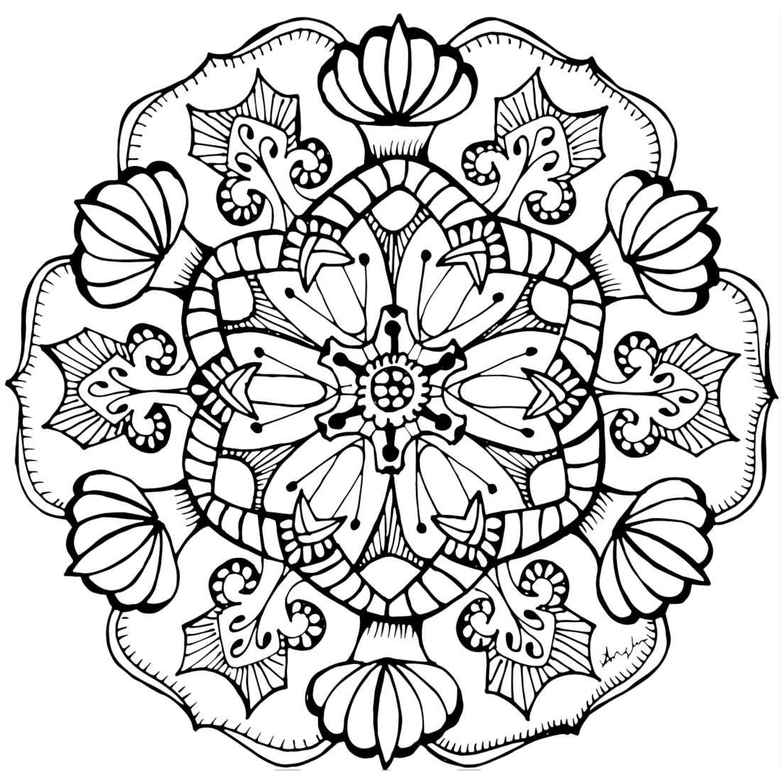 Picture of Shining Bright coloring page