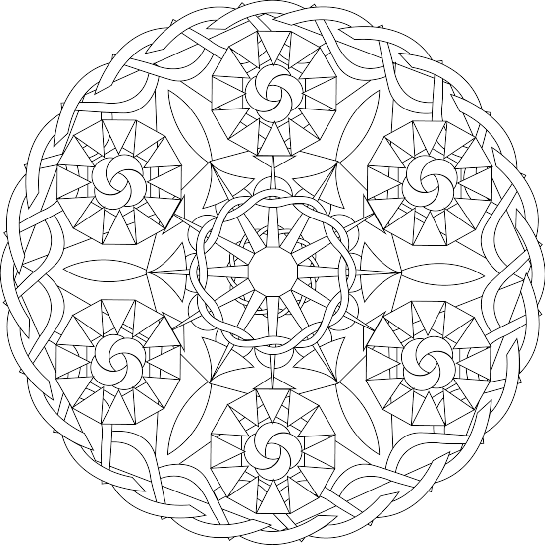 Picture of Six Sisters coloring page