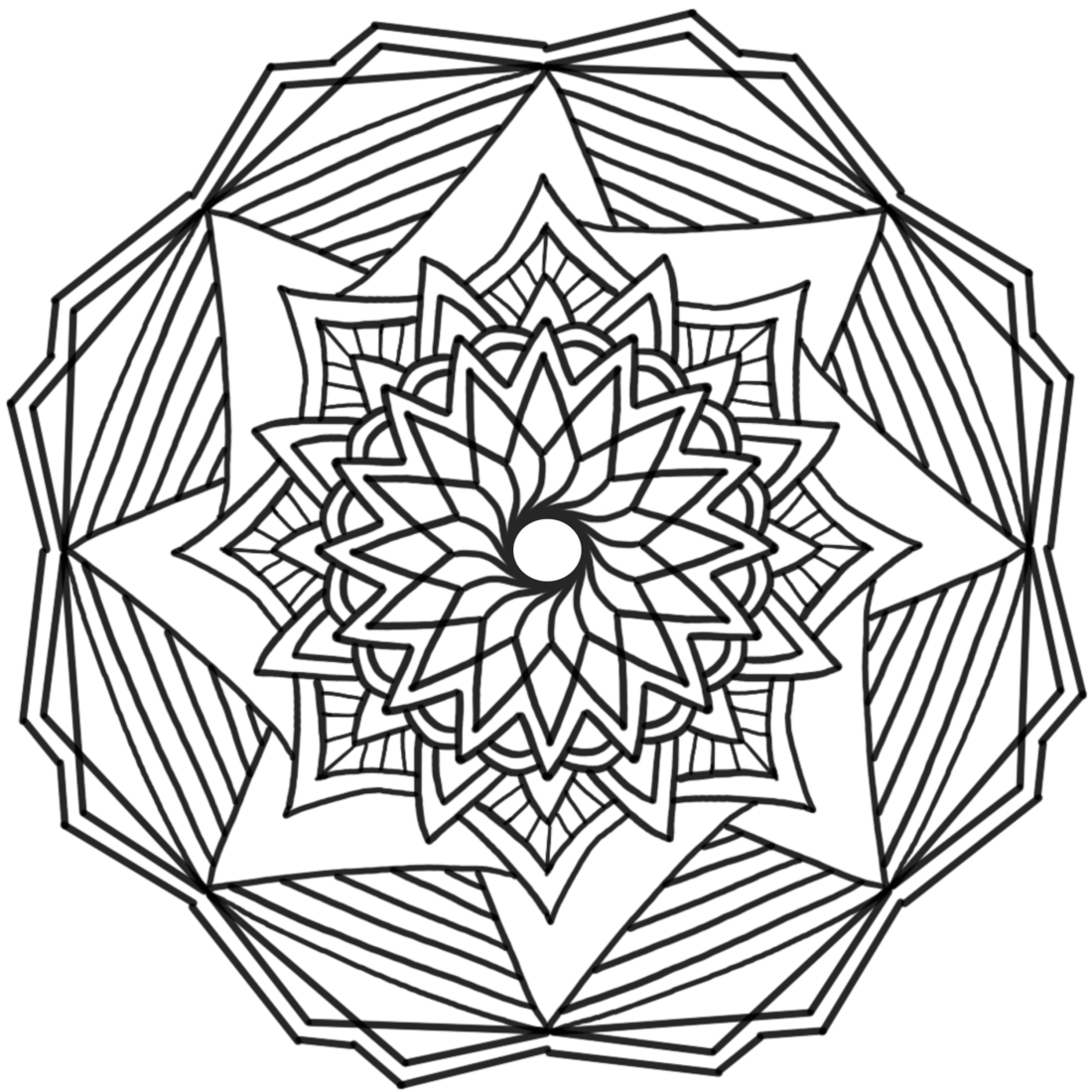 Picture of Spinning Joy coloring page