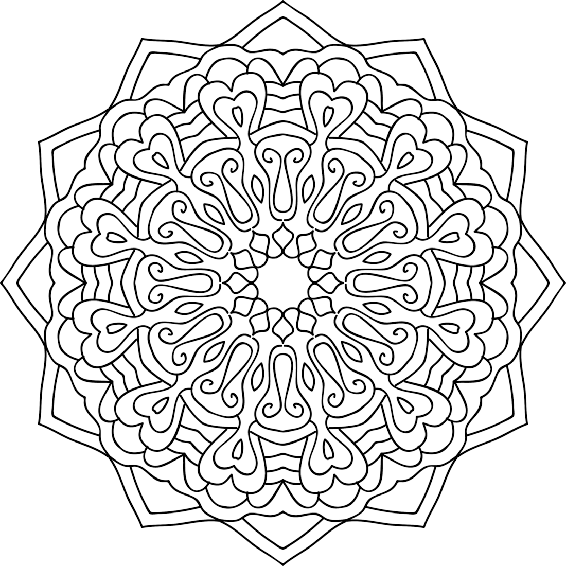 yarn coloring pages - HD 1100×1100