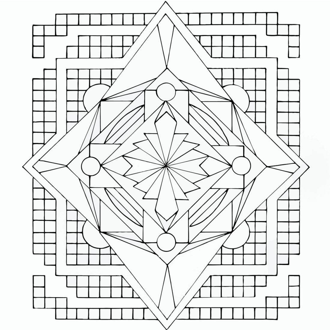 Picture of Tiles coloring page