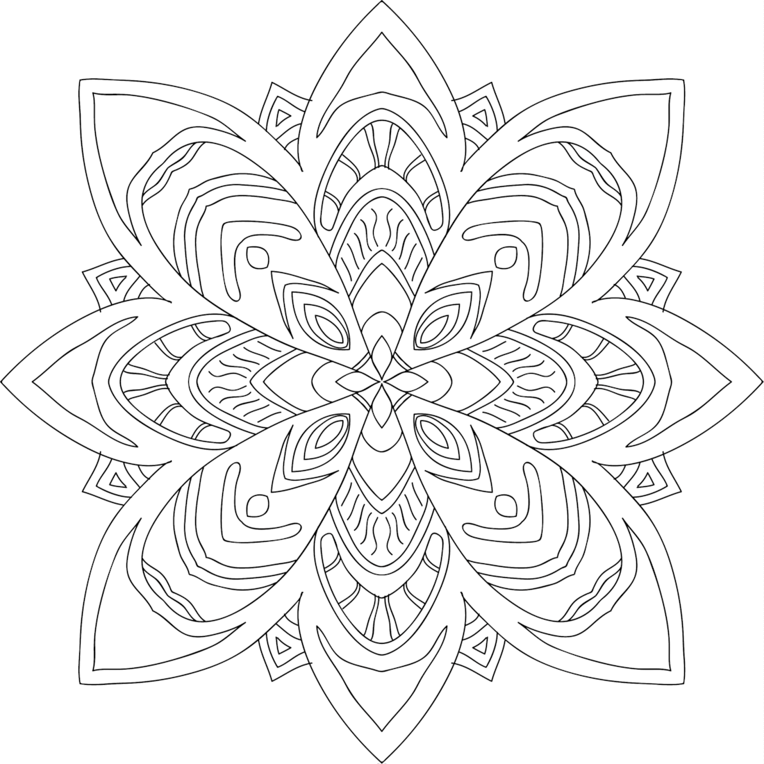 Tribal beauty coloring page for Tribal coloring pages