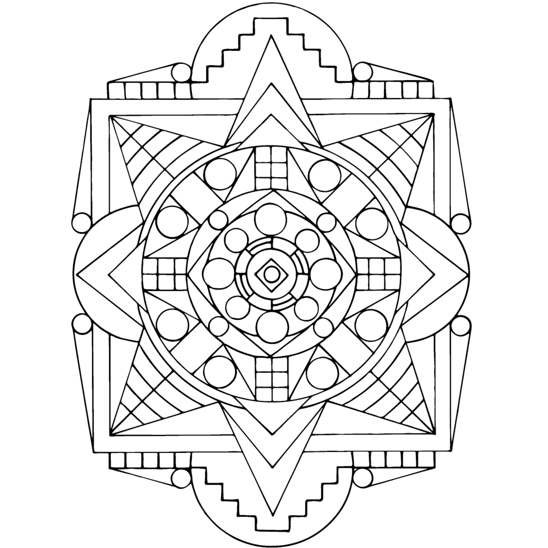 Picture of Tribal Shield coloring page