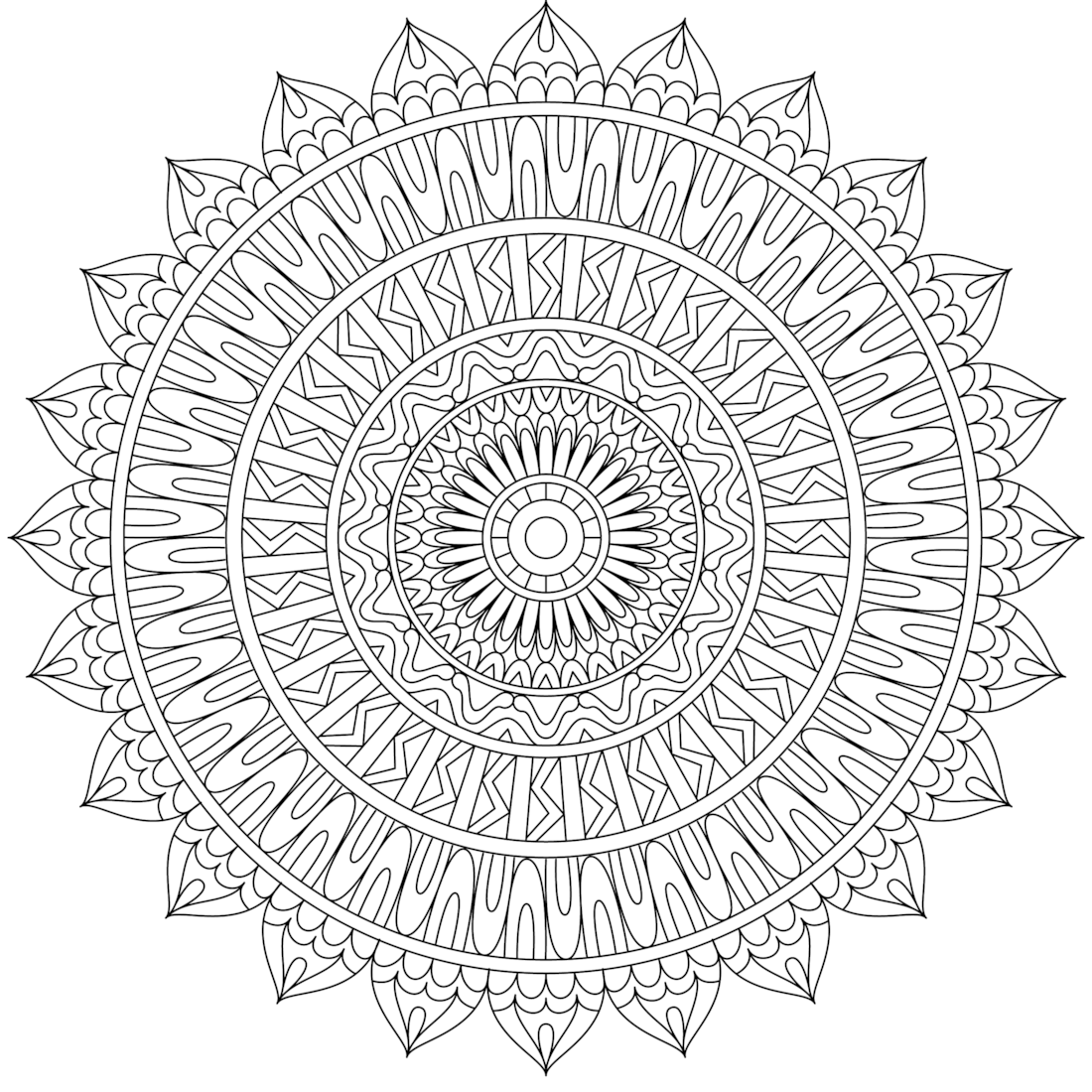 Picture Of Twisted Straight Coloring Page